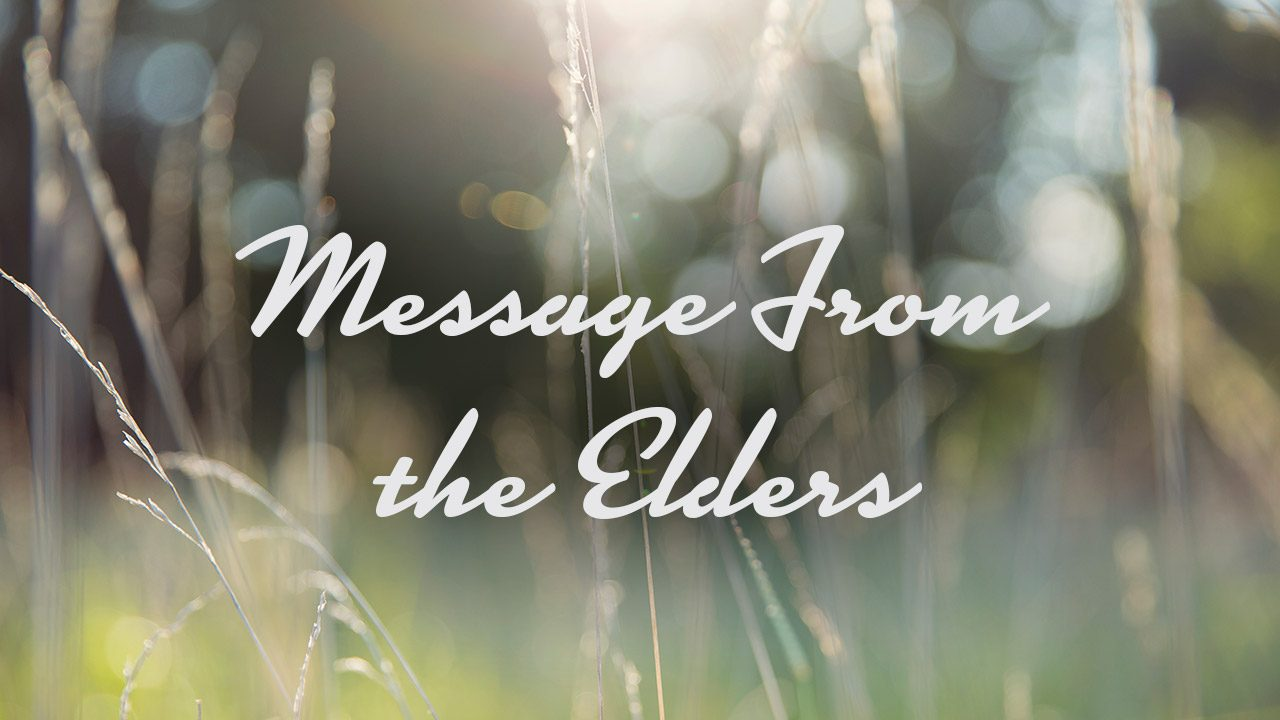 Message From Elders